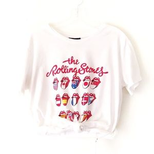 ROLLING STONES tongues oversized graphic band tee